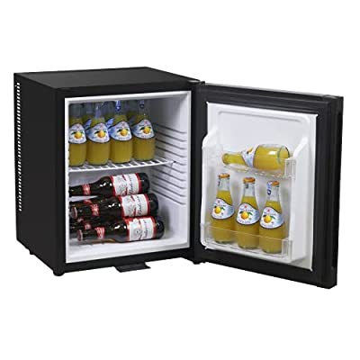 Baridi 25L Mini Bar/Fridge for Beverages/Drinks with Lock & Key, LED Light, Ultra Quiet for Bedrooms, Hotels, Guesthouses, Energy Class G from Dellonda