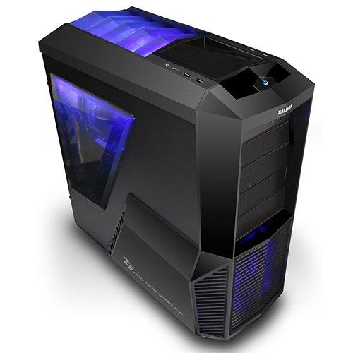 Zalman Z11 Plus Midi-Tower PC-Gehäuse (ATX, 4X 5,25 Externe, 5X 3,5 interne, 2X USB 3.0) schwarz