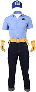 Fix-It Felix Costume for Men, Deluxe Halloween Cosplay Party Outfit