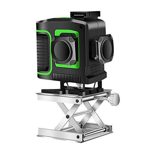Kruislijnlaser, 3 x 360 groene laserniveau, zelfbalancerende 3D-12 lijnen, IP 54 zelfnivellerende verticale supersterke groene laserstraallijn groen