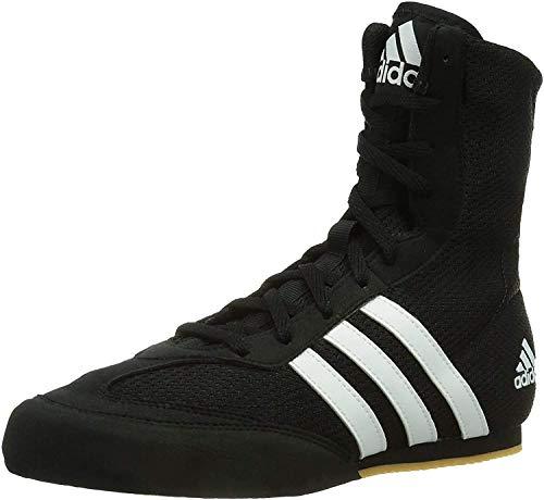 adidas Box Hog Mens Boxing Trainer Shoe Boot Black/White - UK 9.5