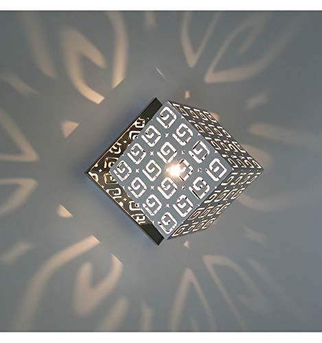 KOSILUM - Applique murale blanc design Belfast - Lumière Blanc Chaud Eclairage Salon Chambre Cuisine Couloir - 25W - - G9 - IP20