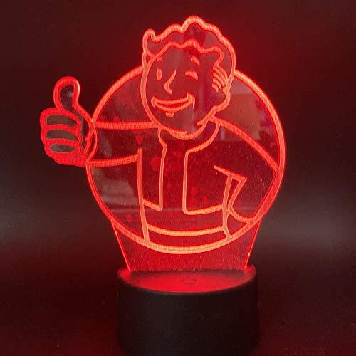 Juego Fallout Shelter 3D LED Luz de noche Sensor táctil Cambio de...