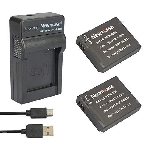 Newmowa BCM13 Batterie (2er Pack) und tragbar Micro-USB-Ladegerät-Set für Panasonic DMW-BCM13, DMW-BCM13E,-BCM13PP und Panasonic Lumix DMC-FT5, LZ40 DMC-TS5 TZ37