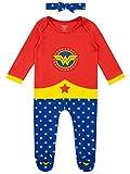 Wonder Woman Pijama Entera y Venda para Niñas Bebés Multi 0-3 Meses
