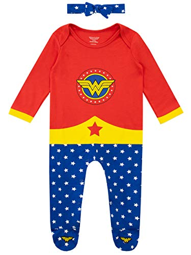 Wonder Woman Pijama Entera y Venda para Niñas Bebés Multi 6-9 Meses