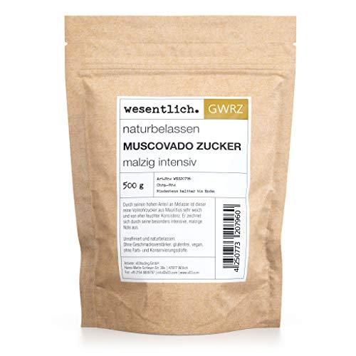 Muscovado Zucker 500g - naturbelassener Vollrohrzucker aus Mauritius von wesentlich