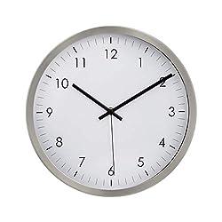 AmazonBasics 12 Traditional Wall Clock - Nickel