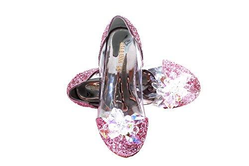 ELSA & ANNA® - Ballerines Princesse Reine de Neiges - PNK16-SH (PNK16-SH, Euro 24-Longueur intérieure:16.0cm)