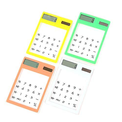 Wissenschaftlicher Taschentaschenrechner Solartaschentaschenrechner Taschentaschenrechner Standard-transparent Touch Screen Handheld-taschentaschenrechner Für Schule Home and Office