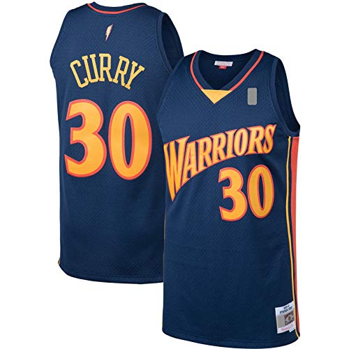 Stephen Outdoor Curry Custom Golden Basketball Jersey State Traning Jersey Warriors #30 Hardwood Classics Jersey Navy - Icono Edition-L