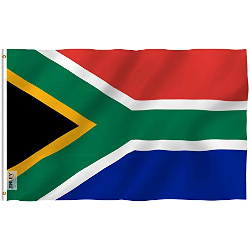 Anley Fly Breeze 3x5 Foot South Africa Flag - Vivid Color and Fade Proof - Canvas Header and Double Stitched - South African National Flags Polyester with Brass Grommets 3 X 5 Ft