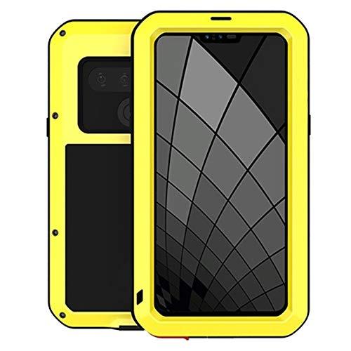 Caja De Metal Ajuste Para Fit For LG G8 Thinq Funda Completa Protectora De La Caja Impermeable Fit Para Fit For LG G6 G7 V30 V40 Thinq V50 funda antigolpes ( Color : Yellow , Material : For LG G7 )