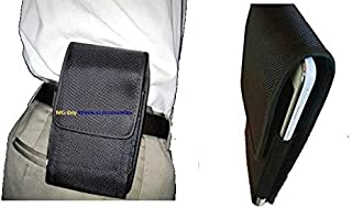 Premium Canvas Nylon Extended Heavy Duty NXT XX-Large Horizontal/Vertical Black Holster Pouch Case W/Fixed Belt Clip fits Lenovo Idea Tab S5000 7.0 Inch/ A1000L /A1107/A3000/A2107 /A1 22282EU Tablet