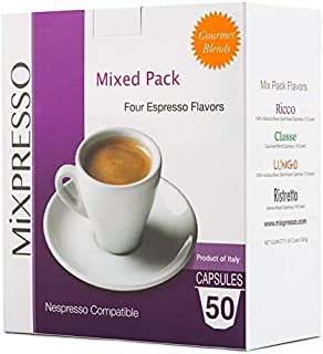 Mixpresso Variety Pack Single Serve Espresso Coffee Pod...