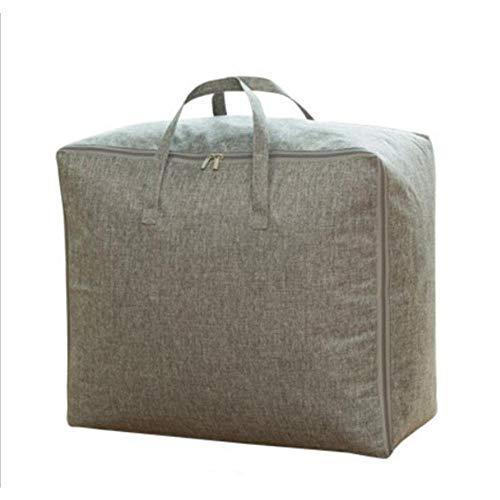 N / C Bolsa de almacenamiento de algodón y lino para el hogar acabado ropa colcha grande movimiento embalaje 60x50x28cm