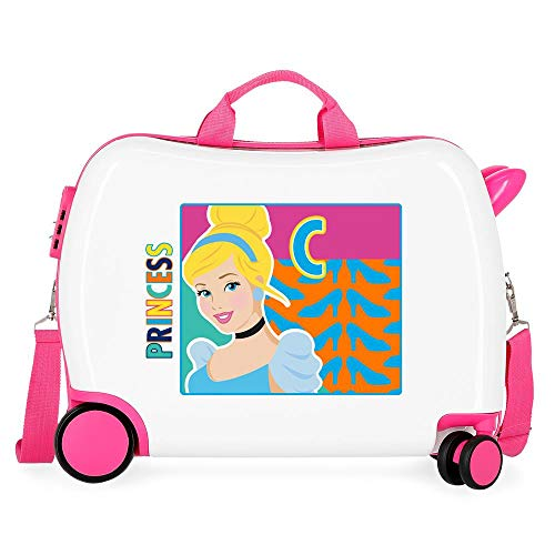 Disney Princess Multicoloured Kids Rolling Suitcase 50 x 38 x 20 cm Rigid ABS Combination Lock 34 Litre 2.1 kg 4 Wheels Hand Luggage