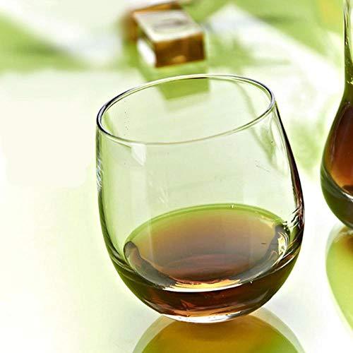 DYTJ-Weingläser 2 Muster Unregelmäßiges Weinglas Bleifrei Hitzebeständig Transparent Kristall Bier Whisky Brandy Cup Drink Bar Geschenke, Rund