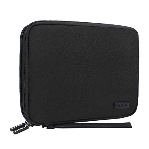 MOSISO Hard Drive Case, Electronics Organizer Bag for 1TB 2TB 4TB SSD HDD USB 3.0 Type-C Cable Cord Power Bank Passport Earphone GPS Gadgets Portable Double Layer Digital Storage Travel Gear, Black