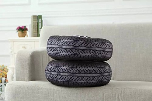 40 cm PP Coton Coussin 3d en forme de pneu de voiture de roue de voiture Taille Coussin Oreiller Home Office Canapé Décor