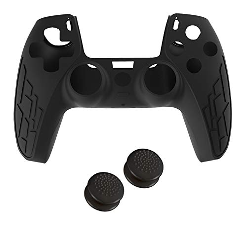 Silicone Cover Skin Case Thumb-Stick Grip Set for PS5 Controllers Cover Skin Case Joystick Cap