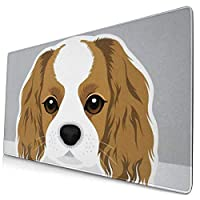 マウスパッド かわいい犬キャバリアパターン 超大型 ゲーミングマウスパッド おしゃれ 防水 滑り止め 耐久性が良い 400x750x3mm