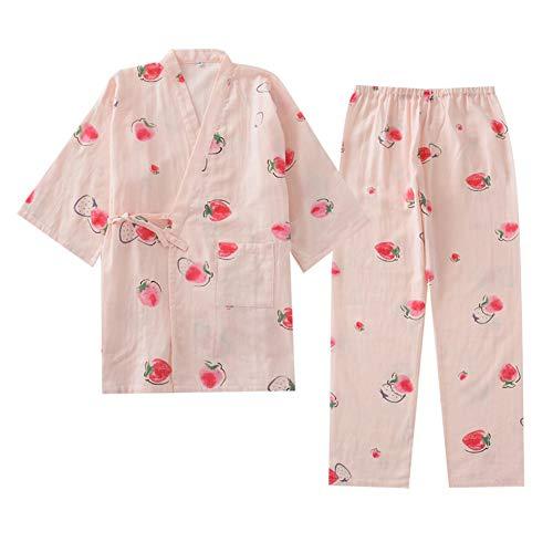 Kimono de Pijama de Mujer japonés camisón Talla M-A02