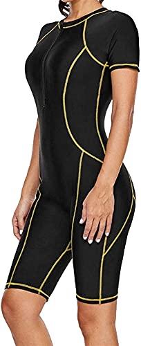 Mujeres 3 mm Secado rápido Traje de Buceo Cuerpo Completo UV Buceo Surfing Snorkeling Kayak Deportes acuáticos (Color : L)