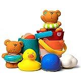 Juguetes Flotantes para Bañera, Juego De Ducha para Niños, Niños Y Niñas, Apto para Bebés De 18 Meses O Más, Juguetes Que Se Pueden Usar En Bañeras Y Piscinas para Bebés (8 Piezas)