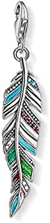 Thomas Sabo Women Charm Pendant Ethnic Feather 925 Sterling Silver