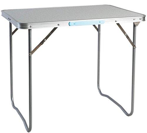 LINDER EXCLUSIV Picknicktisch Alu ausklappbar mit Tragegriff 80 x60 x66,5 cm