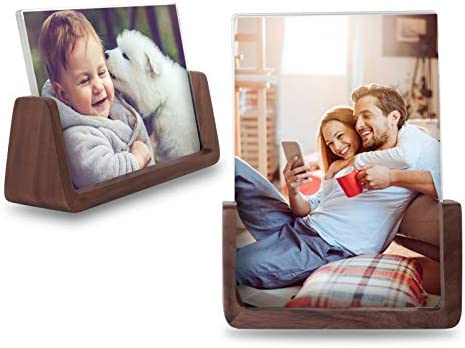 LezGo Picture Frame 2 Pack Photo Frame Made of Solid Wood Acrylic High Definition Glass for product image