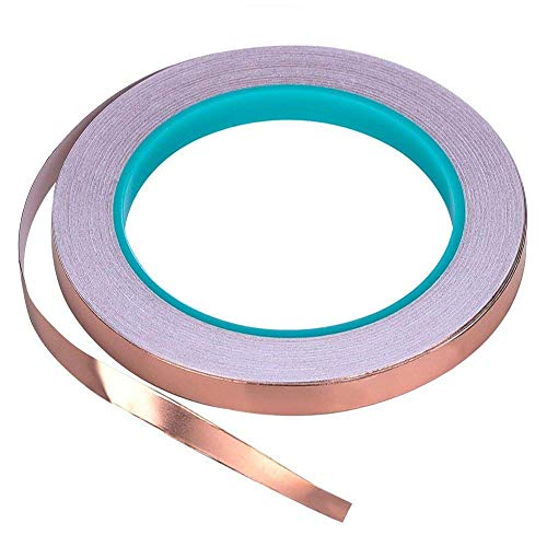 Zehhe Copper Foil Tape with Double-Sided Conductive - EMI Shielding,Stained Glass,Soldering,Electrical Repairs,Paper Circuits,Grounding (1/4inch)
