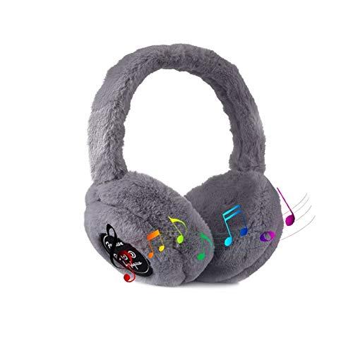 ZLSANVD Bluetooth-Kopfhörer Ohrwärmer, Unisex Headsets Faltbare Ohrmuffen, Winter Outdoor-Wärmer Ohrenschützer, Mikrofonlautsprecher, Laufendes Wandern (Color : 01)