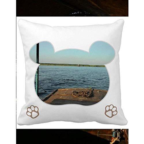 OFFbb-USA - Funda de cojín cuadrada con diseño de oso de nivel de mar