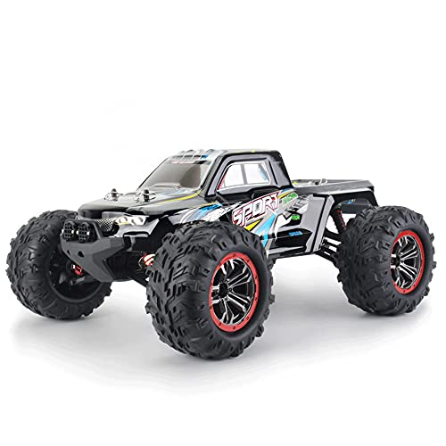 KGUANG Coche RC4WD con Cepillo, Alta Velocidad 35 km/h, Engranaje rápido, Escala Completa, Todoterreno, Big Foot 2.4G, Modelo Infantil con Control Remoto, vehículo Deportivo, camión de Regalo de Cum
