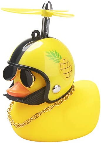 wonuu Rubber Duck Toy Car Ornaments Yellow Duck Car Dashboard Decorations Cool Glasses Duck product image