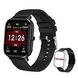 Voigoo Smartwatch(2021 neu) 1.54' Touch Screen Herren Damen Intelligente Uhren Sport   Bluetooth-Anruf   EKG-Überwachung Tracker Pulsuhr Schrittzähler Blutdruckmessung Wasserdicht für iOS Android