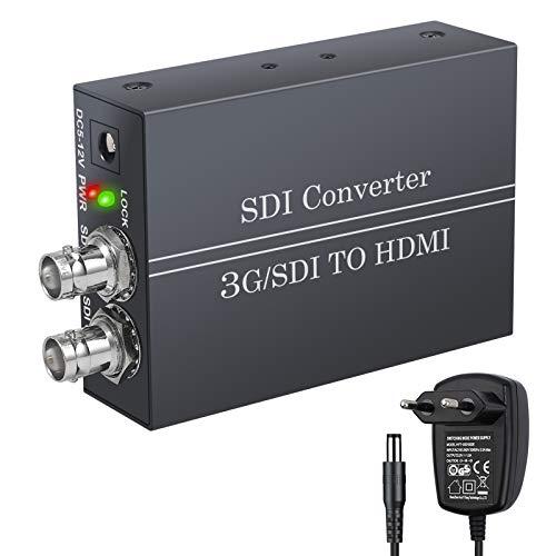 SDI zu HDMI 1080P Konverter von LiNKFOR SDI Eingang HDMI Ausgang SDI Loop Ausgang mit Netzteil Video Audio Konverter 3G SDI HD SDI SD SDI zu HDMI Adapter fur SDI Camcorder zu VCR HDMI Monitor