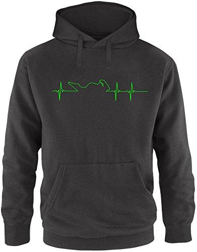 EZYshirt® Motorrad Frequenz Herren Hoodie | Herren Kapuzenpullover | Herren Pullover