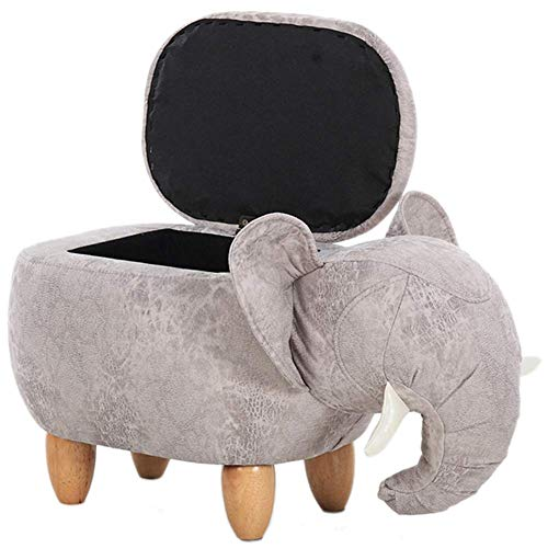 Toy Storage Chair,Animal Footstool Shoe Stool Pouf Chair Box Leather Sofa Ottoman Bean Bag Kid Toys Solid Wood Nordic Home Deco Furniture Seat Covers Bedroom