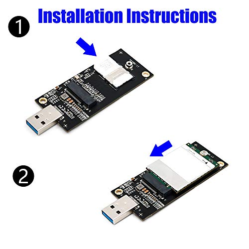 NGFF(M.2) Key B to USB 3.0 Adapter with SIM 6pin Slot for WWAN/LTE Module