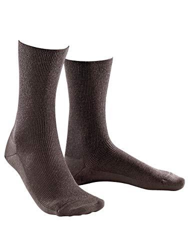 Weissbach Socken »Elite« ohne einschneidenden Gummibund braun