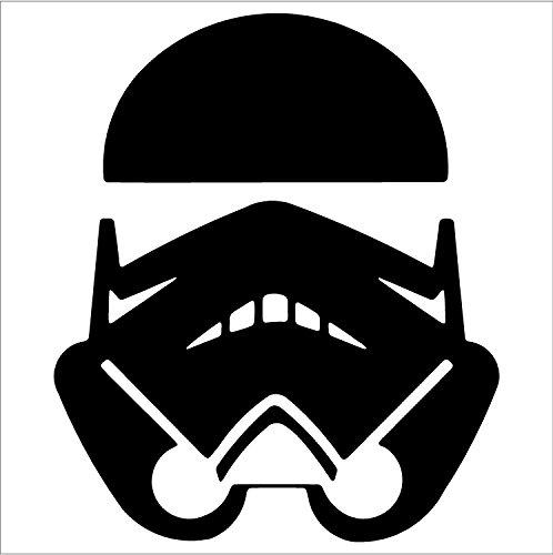 SUPERSTICKI® Stormtrooper - - Car, Truck, Notebook, Vinyl Aufkleber Decal Hintergrund/Maße in inch Sticker D10052 (8.5, Black)