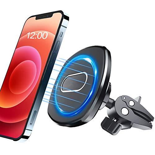KMAEBGH Soporte Magnético para Teléfono para Automóvil con Ventilación [Potentes imanes incorporados] [No se Requiere Placa de Metal] Compatible con la Funda MagSafe para iPhone 12 Series