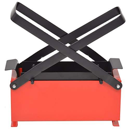Nishore Papierbrikettpresse Stahl Brikettpresse Papierpresse Platzsparend Umweltfreundlich 34 x 14 x 14 cm Schwarz und Rot