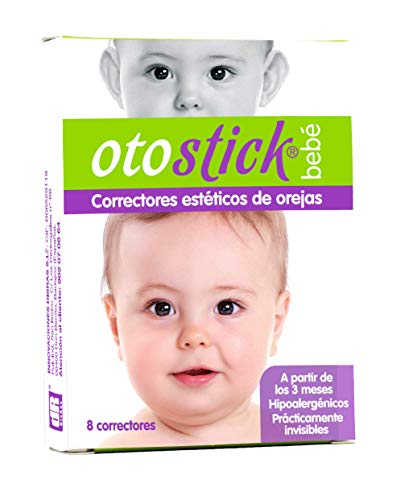 Otostick Bebé - Correttori estetici per orecchie prominenti - Contiene 8 correttori + 1 cuffietta - A partire dai 3 mesi d'età