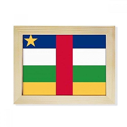 DIYthinker Zentralafrikanische Republik National Flagge Afrika Land Desktop-HÖlz-Bilderrahmen Fotokunst-Malerei Passend 15.2 x 20.2cm (6 x 8 Zoll) Bild Mehrfarbig