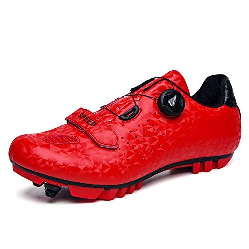 Gogodoing Chaussures de Vélo de Vélo de Montagne pour Hommes Compatibles avec SPD-SL et Chaussures de Cyclisme en Salle pour Femmes Résistantes à l'usure avec Crampons