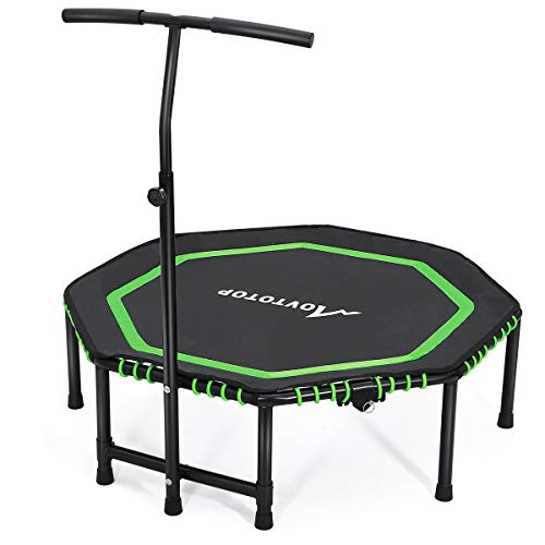 MOVTOTOP Indoor Fitness Trampoline Folding 48 Inch with Adjustable...